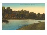 Lake in Rockefeller Park, Cleveland, Ohio Poster
