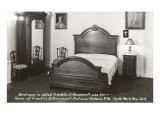 Bedroom in FDR's Birthplace, Hyde Park, New York Poster