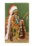 Osage Indian in Full Dress, Oklahoma Prints