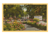 Park with Flowers, Portland, Oregon Poster