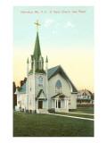 St. Agnes Church, Lake Placid, Adirondacks, New York Prints