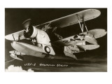 J2F-2 Grumman Utility Biplane with Pontoon Hull Prints