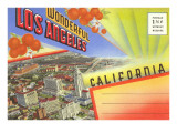 Postcard Folder, Wonderful Los Angeles, California Prints