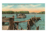 Ferry at Bemus Point, Chautauqua, New York Prints