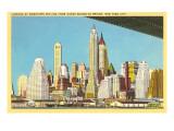 Skyline from under Brooklyn Bridge, New York City Posters