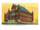 Library, Syracuse University, New York Print