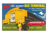 Ad for Port Authority Bus Terminal, New York City Affiches