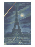 Eiffel Tower at Night, Paris Prints