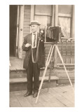 Man with Old Camera Prints