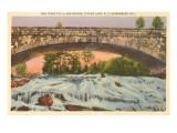 Bog River Falls and Bridge, Adirondacks, New York Poster