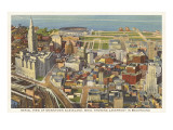 Aerial View of Cleveland, Ohio Print