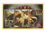 Greetings from Delaware, Water Gap, Pennsylvania Print