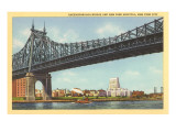 Queensborough Bridge, Hospital, New York City Print