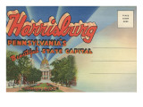 Postcard Folder, Harrisburg, Pennsylvania Posters