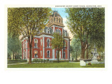 Coshocton County Courthouse, Ohio Poster