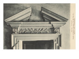 Broken Pediment over Door, Philadelphia, Pennsylvania Prints