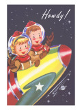 Howdy from Kids in Outer Space Prints