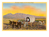 Desert Prospector, Covered Wagon, Nevada Art