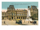 Carousel Square and Gambetta Monument, Paris Prints
