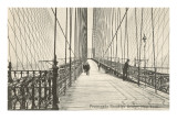 Promenade, Brooklyn Bridge, New York City Print