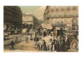St. Lazare Street and Bus Station, Paris Affiches