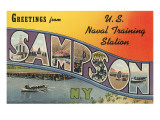Greetings from Sampson, New York Prints