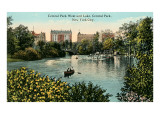 Central Park West, Lake, New York City Poster