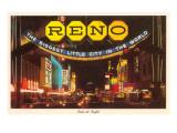 Neon at Night, Reno, Nevada Poster