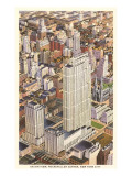 Aerial View of Rockefeller Center, New York City Prints