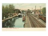 Canal, Bethlehem, Pennsylvania Prints