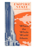 Empire State Observatories, New York City Poster