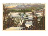 Ski Jumper, Lake Placid, New York Print