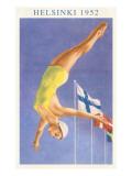 Olympic Diving, Helsinki, Finland, 1952 Premium Giclee-trykk
