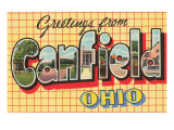 Greetings from Canfield, Ohio Poster