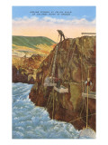 Indians Fishing in the Columbia River, Oregon Posters