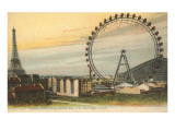 Ferris Wheel and Eiffel Tower Art