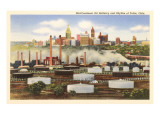 Oil Refinery, Skyline, Tulsa, Oklahoma Art