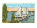 Sailboats, Pier, Buckeye Lake, Ohio Kunstdrucke