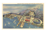 Aerial View, Great Lakes Exposition, Cleveland, Ohio Posters