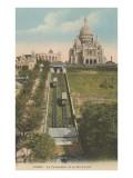 Funicular Railway to Sacre Coeur Church Prints