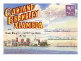 Postcard Folder, Oakland, Berkeley, Alameda, California Posters