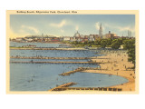 Beach, Edgewater Park, Cleveland, Ohio Posters