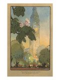 Art Deco Rendering of Metropolitan Tower, New York City Print