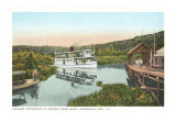 Steamer, Marion River, Adirondacks, New York Prints