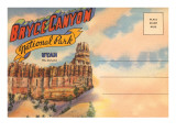 Postcard Folder, Bryce Canyon National Park, Utah Poster