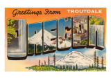 Greetings from Troutdale, Oregon Posters