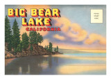 Postcard Folder, Big Bear Lake, California Poster