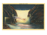 Boulder Dam at Night, Nevada Prints