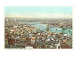 Bridges over the East River, New York City Prints