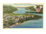 Air View, U.S. Military Academy, West Point, New York Prints